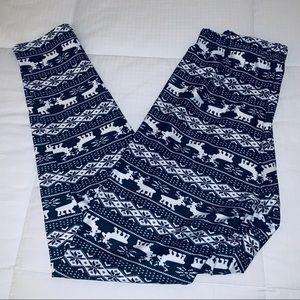 Grace Karin Christmas Print Leggings/ NWT/ Size M